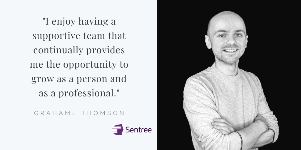"""Grahame Thomson head shot. """"I enjoy having a supportive team that continually provides me the opportunity to grow as a person and as a professional."""""""