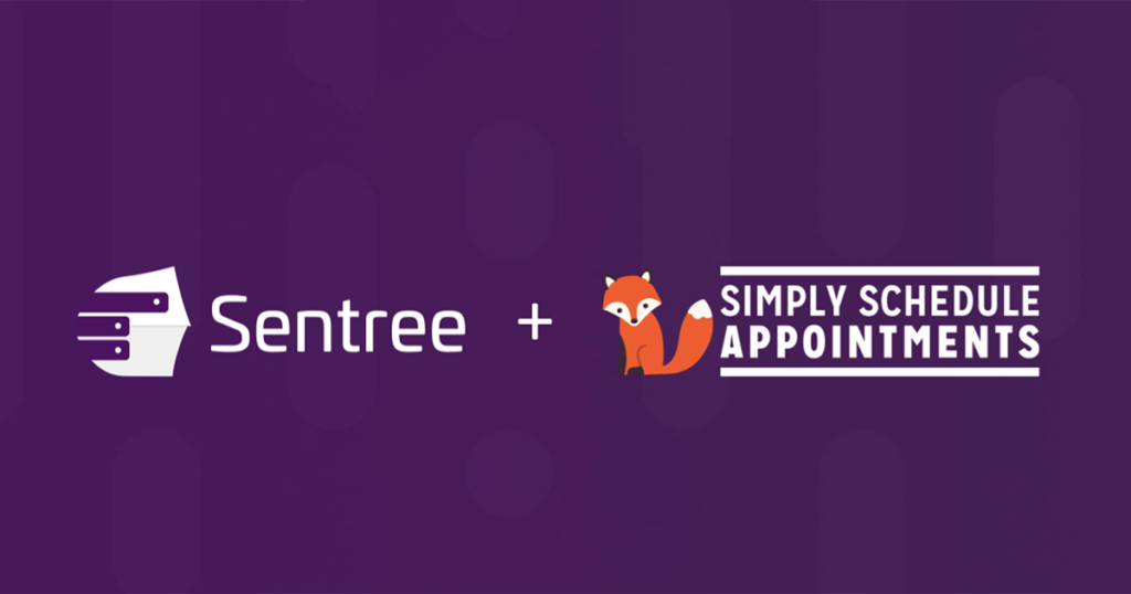 Sentree and Simply Schedule Appointments logos